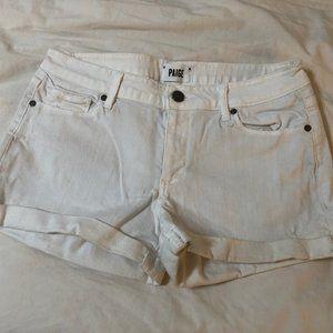 PAIGE White Denim Jean Shorts Size 28 Jimmy Jimmy